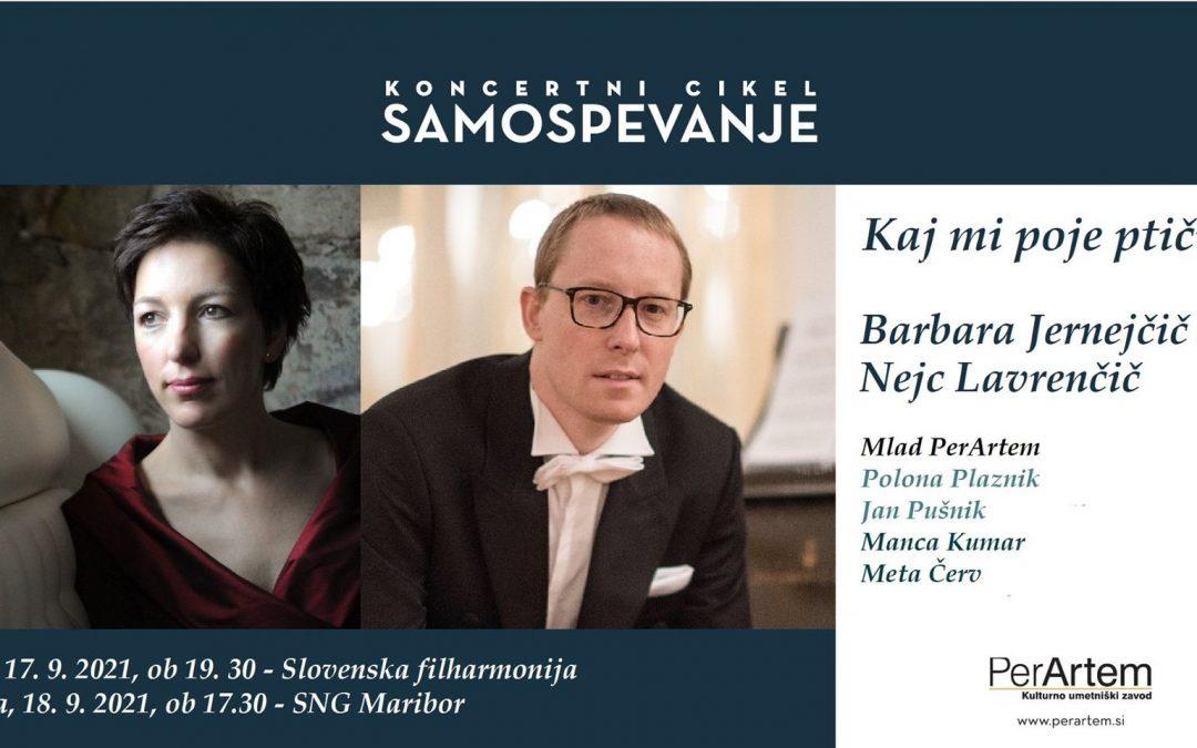 Večer samospevov G. Mahlerja, J. Pavčiča in M. Ravela z mezzospranistko Barbara Jernejčič Fürst in pianistom Nejcem Lavrenčičem v Slovenski filharmoniji
