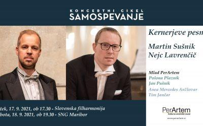 Večer samospevov R. Schumanna na besedila J. Kernerja s tenoristom Martinom Sušnikom in pianistom Nejcem Lavrenčičem v SNG Maribor